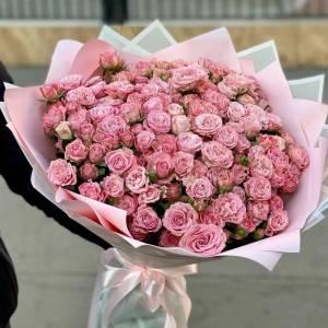 Букет 75 веток кустовых пионовидных роз R995