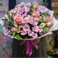 Сборный букет хризантем R010